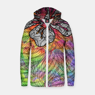 Thumbnail image of flower Cotton zip up hoodie, Live Heroes