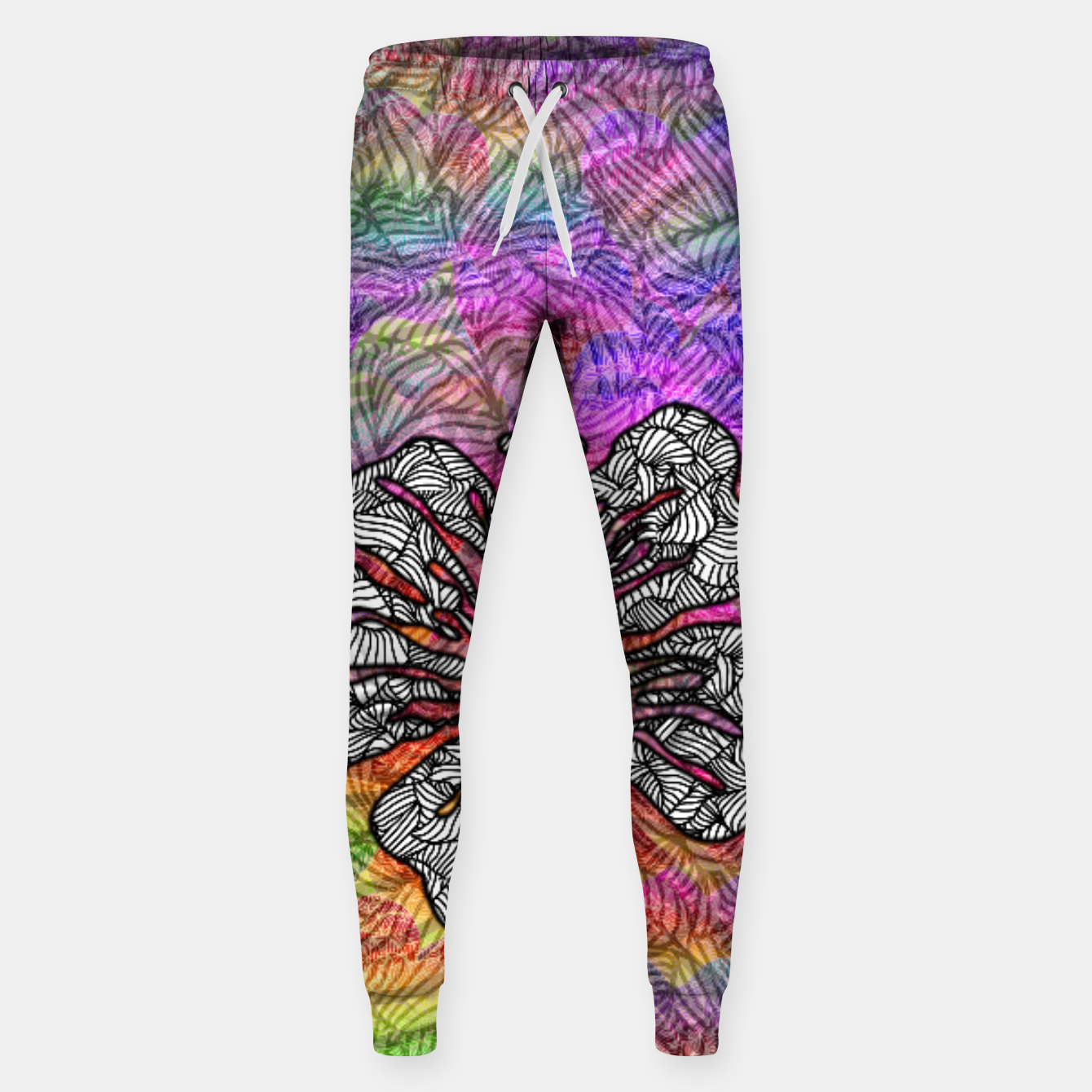 Image of flower Cotton sweatpants - Live Heroes