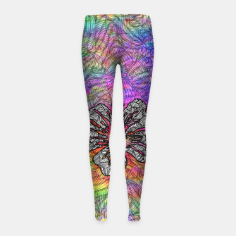 Thumbnail image of flower Girl's leggings, Live Heroes