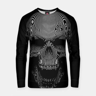 Thumbnail image of Skull Lines Grid Cotton sweater, Live Heroes