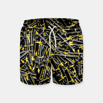 Thumbnail image of Writer's Tools Swim Shorts, Live Heroes