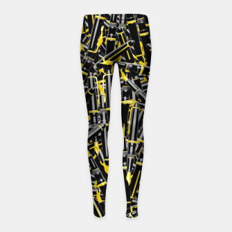Thumbnail image of Writer's Tools Girl's leggings, Live Heroes