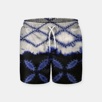 Miniaturka V42 Dark Blue Traditional Moroccan Texture Swim Shorts, Live Heroes