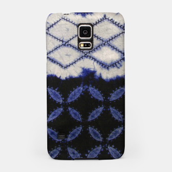 Miniaturka V42 Dark Blue Traditional Moroccan Texture Samsung Case, Live Heroes