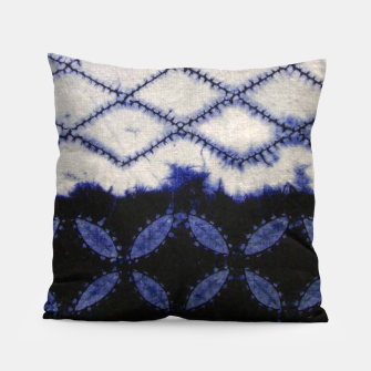 Miniaturka V42 Dark Blue Traditional Moroccan Texture Pillow, Live Heroes