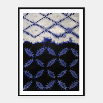 Miniaturka V42 Dark Blue Traditional Moroccan Texture Framed poster, Live Heroes