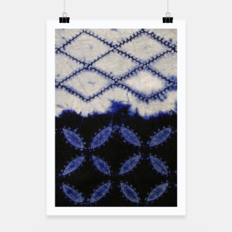 Miniaturka V42 Dark Blue Traditional Moroccan Texture Poster, Live Heroes