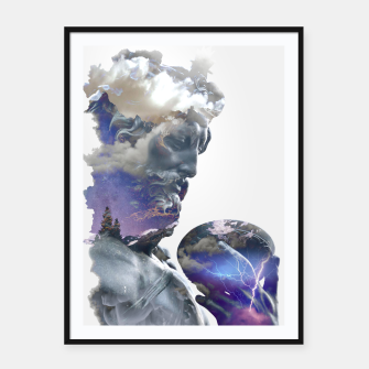 Thumbnail image of Zeus 2 Framed poster, Live Heroes