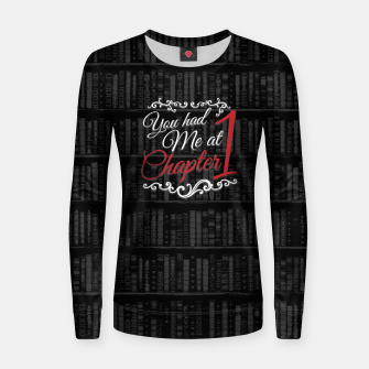 Thumbnail image of You had Me at Chapter 1 Woman cotton sweater, Live Heroes