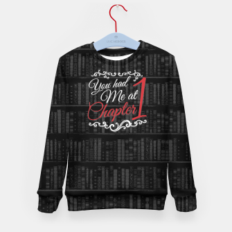 Thumbnail image of You had Me at Chapter 1 Kid's sweater, Live Heroes