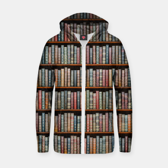 The Library Cotton zip up hoodie thumbnail image