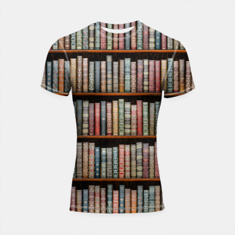 Thumbnail image of The Library Shortsleeve rashguard, Live Heroes