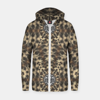 Thumbnail image of I am big cat with sweet catpaws decorative Cotton zip up hoodie, Live Heroes
