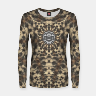Thumbnail image of I am big cat with sweet catpaws decorative Woman cotton sweater, Live Heroes