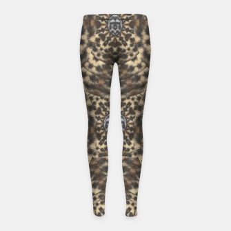Thumbnail image of I am big cat with sweet catpaws decorative Girl's leggings, Live Heroes