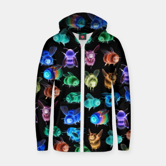 Thumbnail image of Inverse Fuzzy Bee Hooded Sweatshirt, Live Heroes