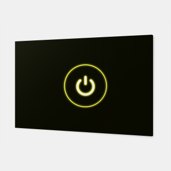 Imagen en miniatura de Bright Neon Yellow Turn Me On and Power Me Up Canvas, Live Heroes
