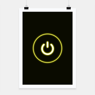 Imagen en miniatura de Bright Neon Yellow Turn Me On and Power Me Up Poster, Live Heroes