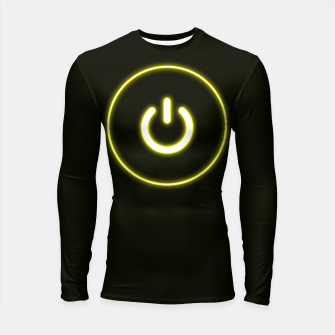 Imagen en miniatura de Bright Neon Yellow Turn Me On and Power Me Up Longsleeve rashguard , Live Heroes