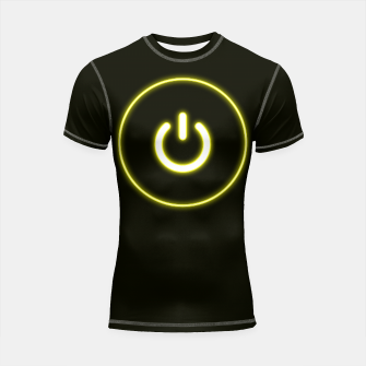Imagen en miniatura de Bright Neon Yellow Turn Me On and Power Me Up Shortsleeve rashguard, Live Heroes