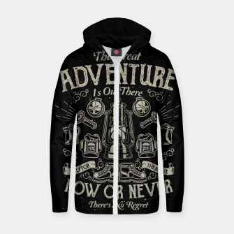 Miniaturka The Great Adventure Cotton zip up hoodie, Live Heroes