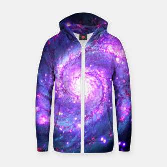 Miniaturka Ultra Violet Whirlpool Galaxy Cotton zip up hoodie, Live Heroes