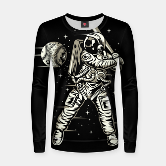 Miniaturka Space baseball Woman cotton sweater, Live Heroes