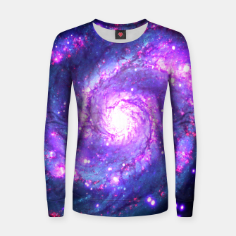 Miniaturka Ultra Violet Whirlpool Galaxy Woman cotton sweater, Live Heroes