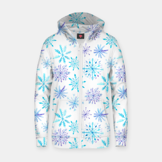 Miniaturka Snowflakes Cotton zip up hoodie, Live Heroes
