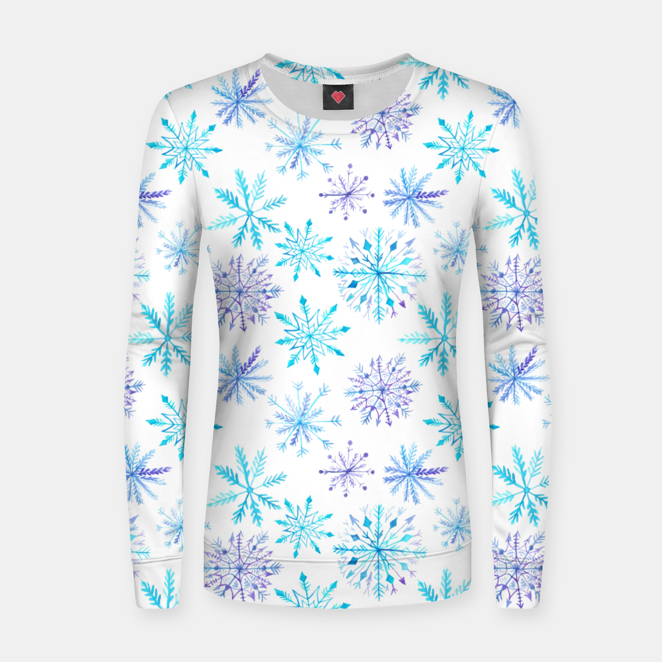 Zdjęcie Snowflakes Woman cotton sweater - Live Heroes