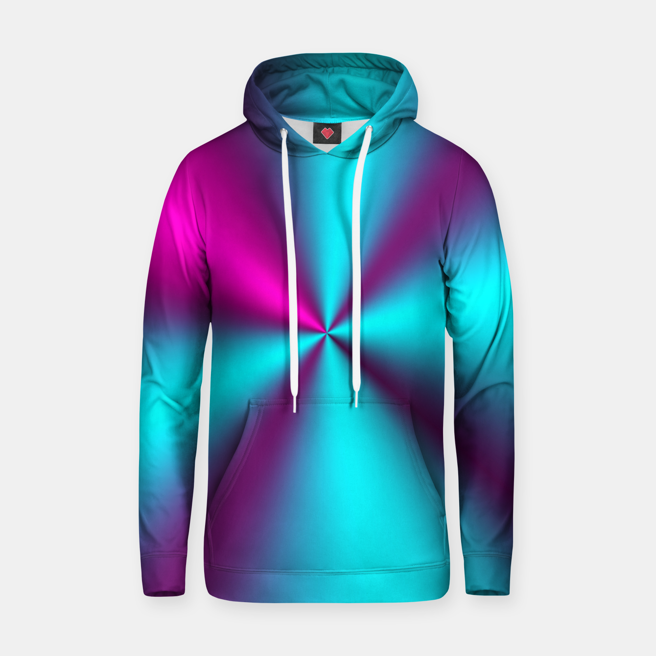 Zdjęcie Violet Illusion silk waves Cotton hoodie - Live Heroes