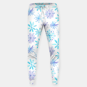 Snowflakes Cotton sweatpants obraz miniatury