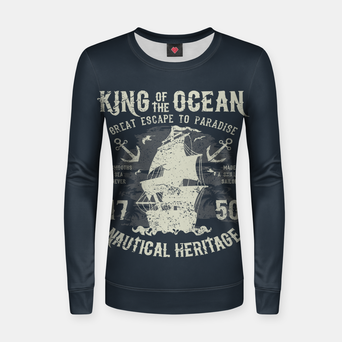 Zdjęcie King of the Ocean Woman cotton sweater - Live Heroes