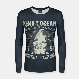Miniaturka King of the Ocean Woman cotton sweater, Live Heroes