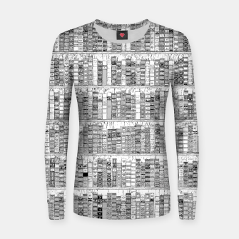 Thumbnail image of The Library II Woman cotton sweater, Live Heroes