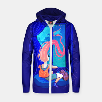 Thumbnail image of Dreamers Cotton zip up hoodie, Live Heroes