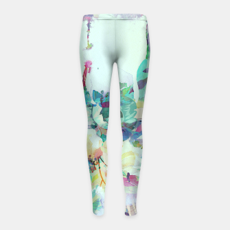 Thumbnail image of Teardrop Blues Girl's leggings, Live Heroes