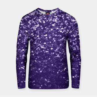 Dark ultra violet purple glitter spakles Cotton sweater thumbnail image