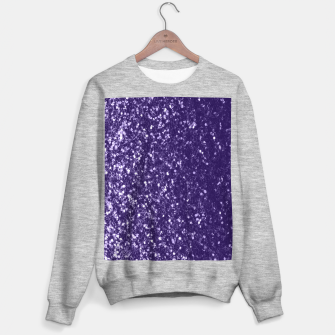 Dark ultra violet purple glitter spakles Sweater regular thumbnail image