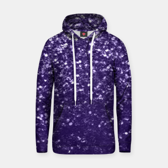 Dark ultra violet purple glitter spakles Cotton hoodie thumbnail image