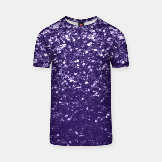 Thumbnail image of Dark ultra violet purple glitter spakles T-shirt, Live Heroes