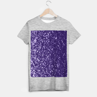 Thumbnail image of Dark ultra violet purple glitter spakles T-shirt regular, Live Heroes