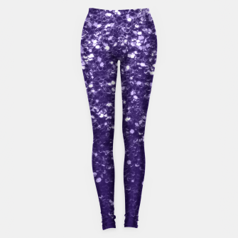 Dark ultra violet purple glitter spakles Leggings thumbnail image