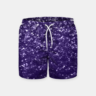 Dark ultra violet purple glitter spakles Swim Shorts thumbnail image