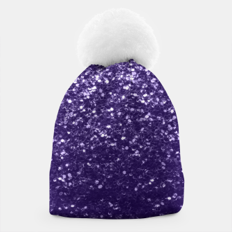Thumbnail image of Dark ultra violet purple glitter spakles Beanie, Live Heroes
