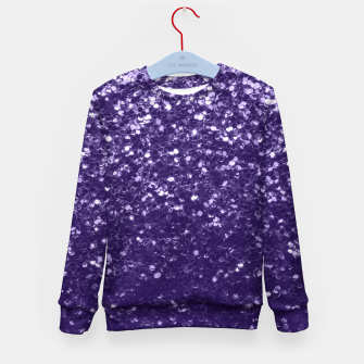 Thumbnail image of Dark ultra violet purple glitter spakles Kid's sweater, Live Heroes