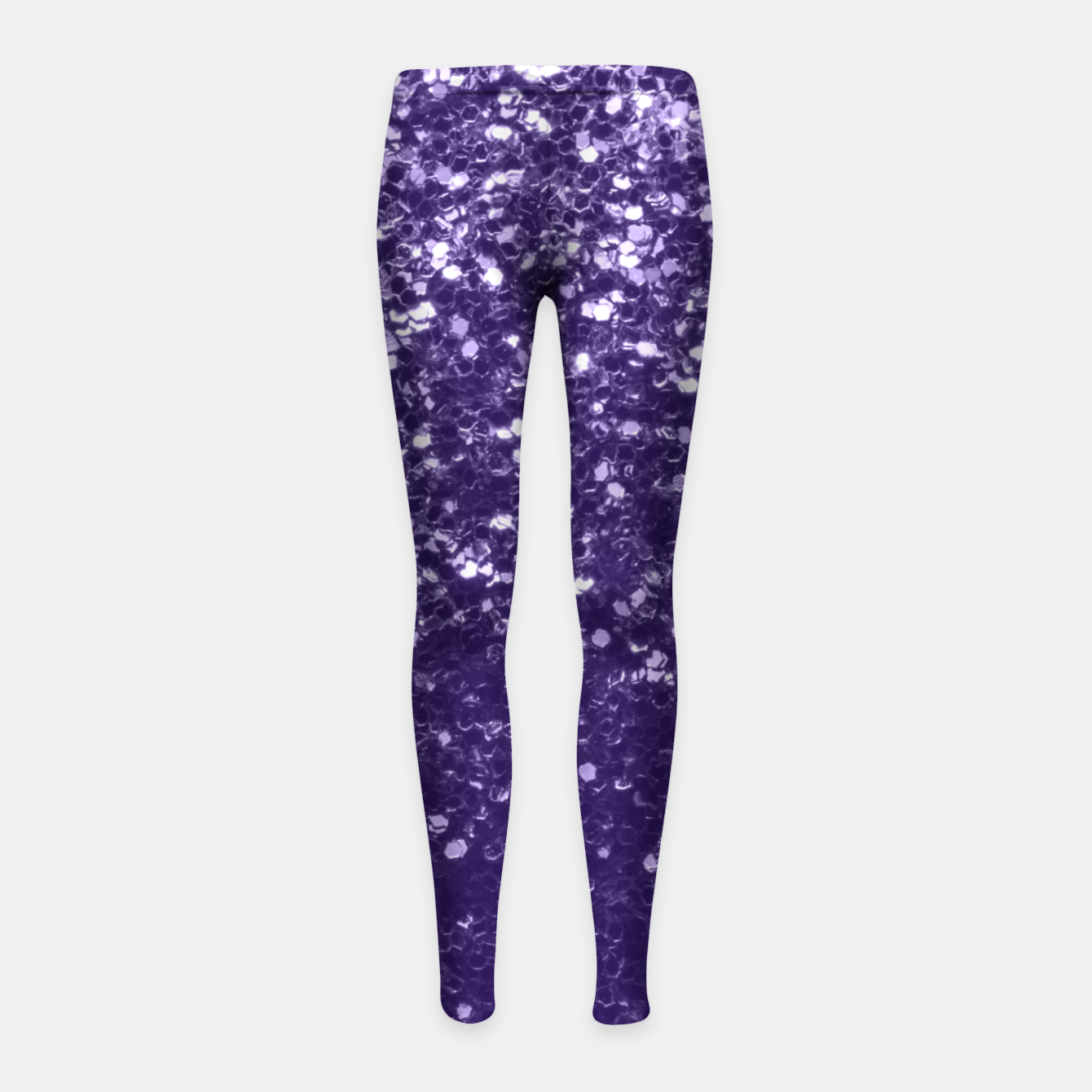 Image of Dark ultra violet purple glitter sparkles Girl's leggings - Live Heroes
