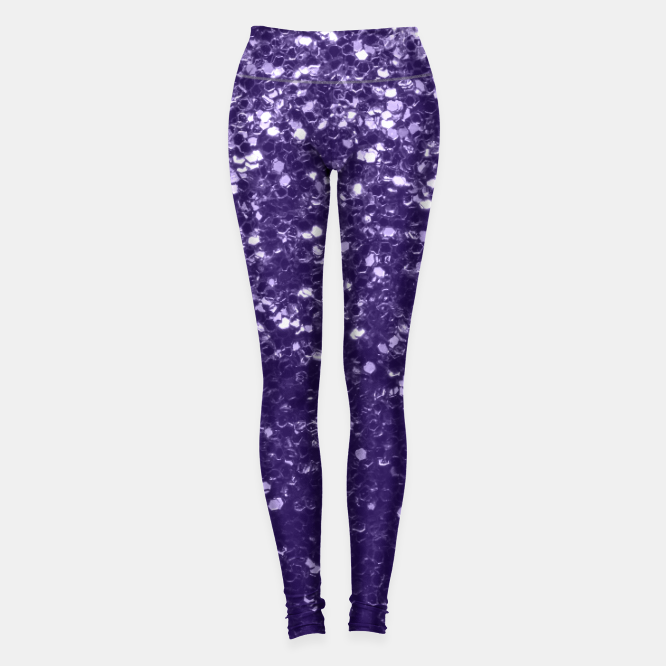 Image of Dark ultra violet purple glitter sparkles Leggings - Live Heroes