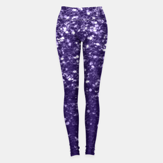 Dark ultra violet purple glitter sparkles Leggings thumbnail image