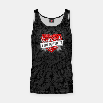 Thumbnail image of Bibliophile Heart Tank Top, Live Heroes
